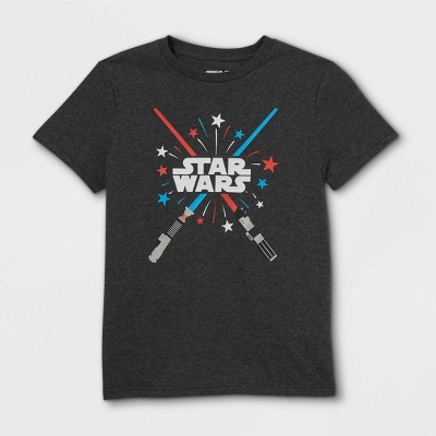 Boys' Star Wars Glow Sabers Short Sleeve Graphic T-Shirt - Black