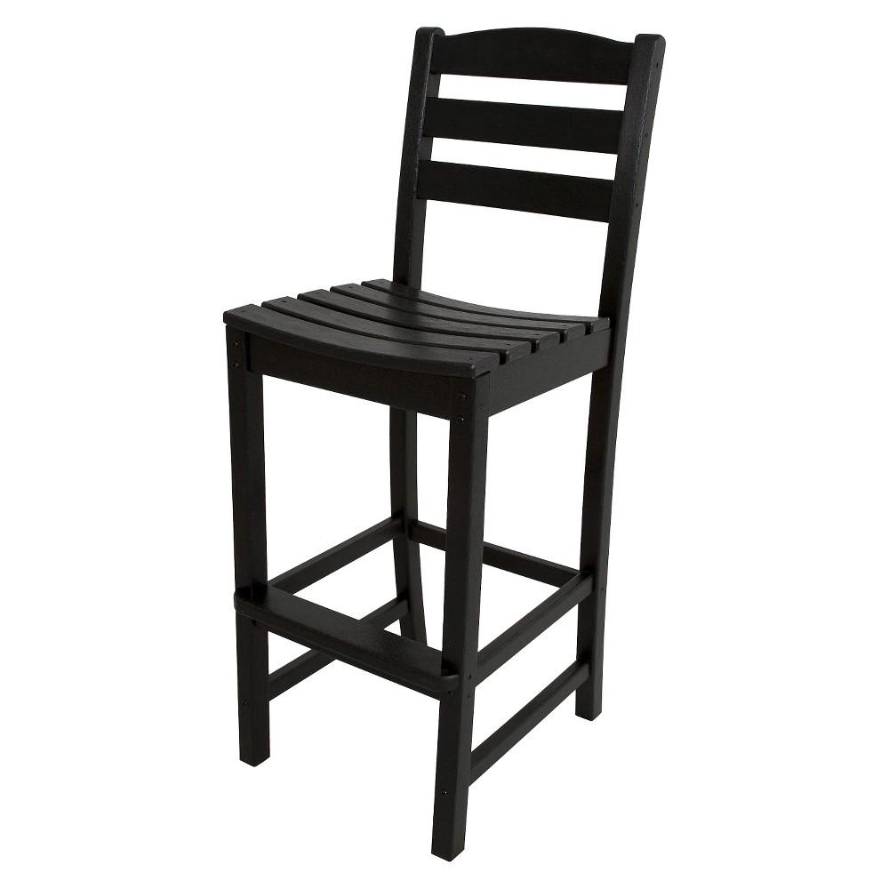 Polywood La Casa Bar Height Patio Dining Side Chair - Black