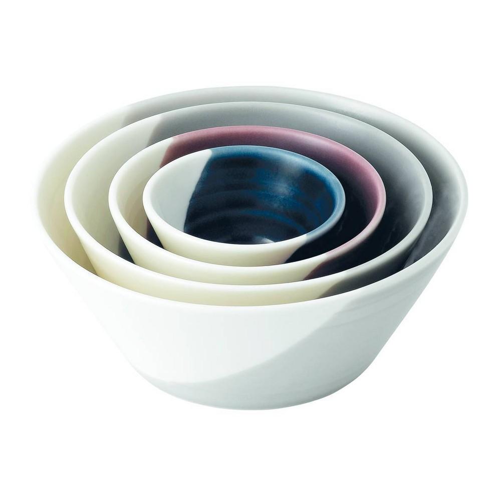 Royal Doulton 24oz 4pk Porcelain Bowls of Plenty Nesting Bowls Natural