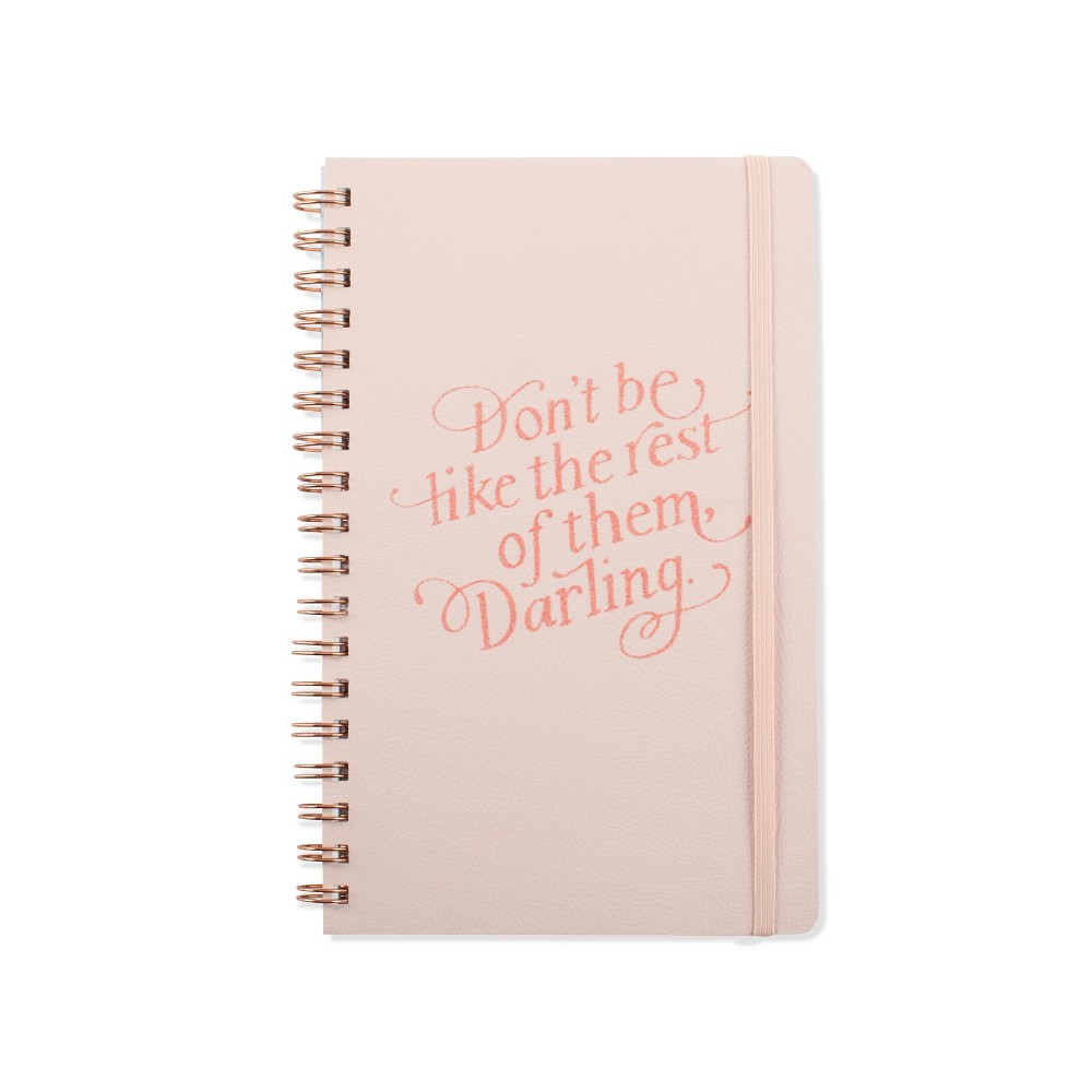 Image of Inspirational Lined Journal with Elastic Closure Blush Pink - Fringe