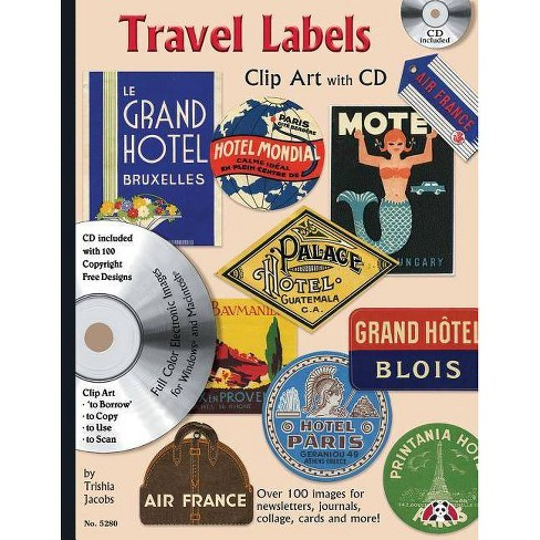 Travel Labels Clip Art with CD - by  Trishia Jacobs (Paperback) - image 1 of 1