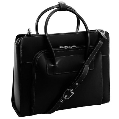 'McKlein Lake Forest 15'' Leather Ladies' Laptop Briefcase (Black), Women's, Size: Small'