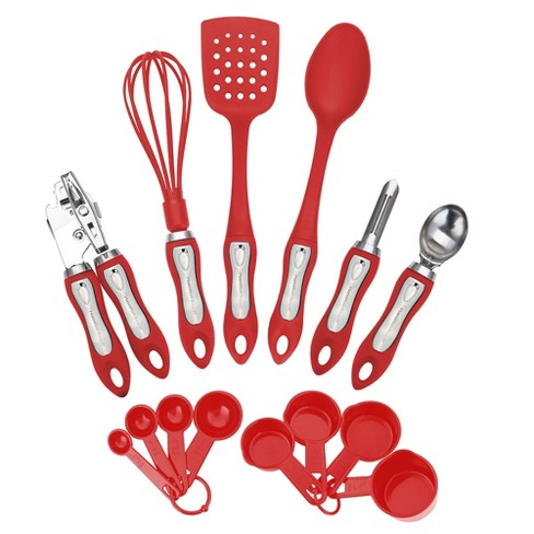 Hamilton Beach Kitchen 14 Piece Soft Touch Handle Tool And Gadget Set, Red - image 1 of 1