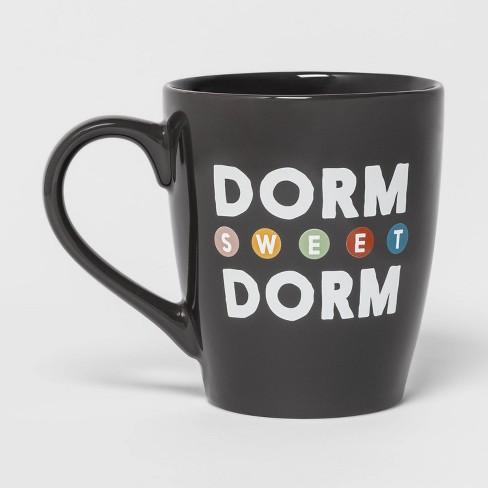 50oz Stoneware Dorm Sweet Dorm Giant Mug Black - Room Essentials™ - image 1 of 2