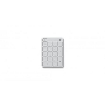 Microsoft Number Pad Glacier - Bluetooth 5.0 Connectivity - 2.4 GHz Frequency Range - Connect up to 3 devices - 1.3mm low profile key travel