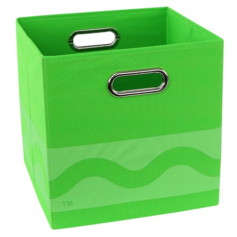 "Green Crayola Tone Serpentine Storage Bin (10.5""x10.5"") - image 1 of 3"