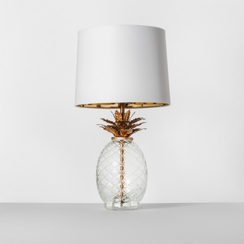 Glass Pineapple Table Lamp Brass - Opalhouse™ - image 1 of 4