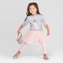 Toddler Girls' Disney Elsa Long Sleeve Top and Tutu Leggings - Light Gray