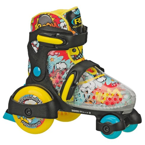 Roller Derby Boy's Fun Roll Jr Adjustable Roller Skate - Black/Yellow/Blue  - image 1 of 3