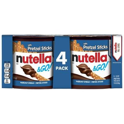 Nutella and Go! with Pretzel Sticks - 7.6oz/4pk