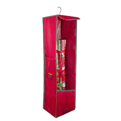 "Northlight 36"" Vertical Red and Green Hanging Christmas Decoration Organizer Storage Bag"