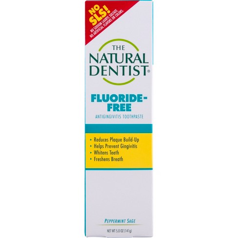 The Natural Dentist Whitening Fluoride Peppermint Sage Toothpaste - 5oz - image 1 of 3