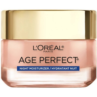 L'Oreal Paris Age Perfect Rosy Tone Cooling Night Moisturizer - 1.7oz