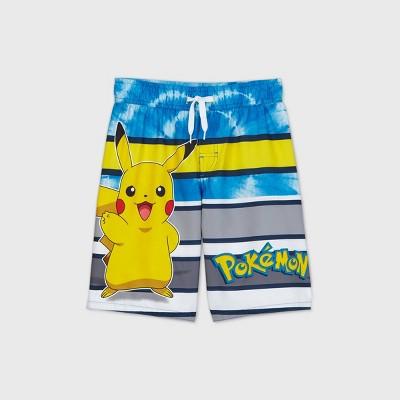 Boys' Pokemon Swim Trunks - Blue/Gray