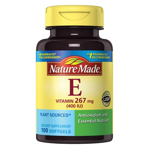 Nature Made Vitamin E Dietary Supplement Liquid Softgels - image 1 of 3