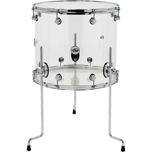 DW Design Series Acrylic Floor Tom with Chrome Hardware 18 x 16 in. Clear - image 1 of 1