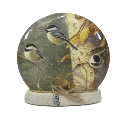 "Stony Creek 7.0"" Fall Chickadees Small Orb Birch Tree Autumn Birds  -  Novelty Sculpture Lights"