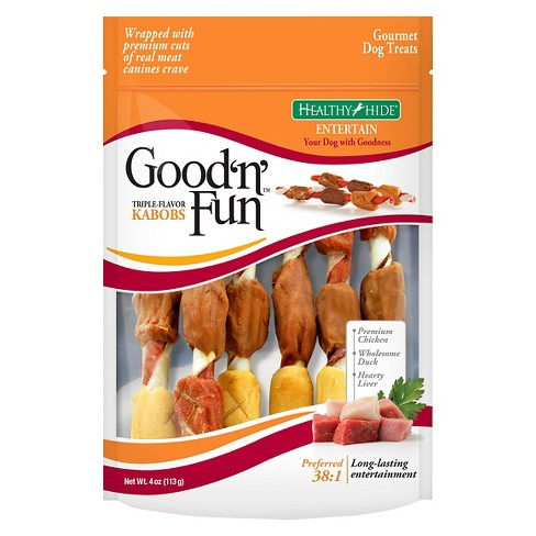 Good 'N' Fun Triple Flavored Pork, Beef, and Chicken Kabob - 4oz - image 1 of 2