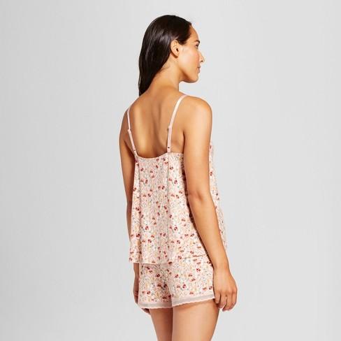 67281b21bd Women s Total Comfort Lace Trim 2pc Pajama Set - Gilligan   O Malley™ Pink  Floral   Target