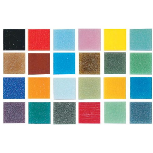 Mosaic Mercantile Authentic Glass Mosaic Tiles, 3/8 Inch, Assorted Colors, 1 Pound - image 1 of 1