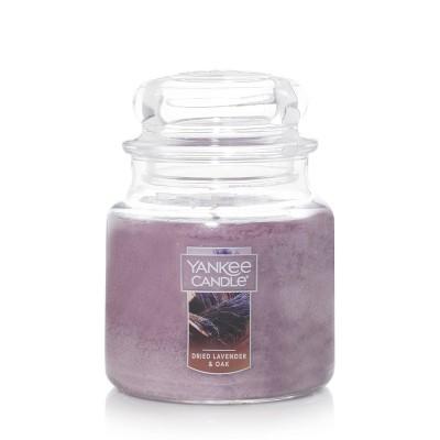 12.5oz Glass Jar Dried Lavender Oak Candle - Yankee Candle