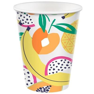 10ct 12oz Cup Fruit Toss Yellow Orange Green - Sun Squad™