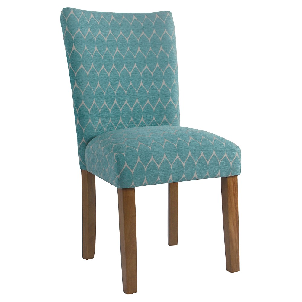 Set of 2 Textured Parsons Chair Teal - HomePop was $209.99 now $157.49 (25.0% off)