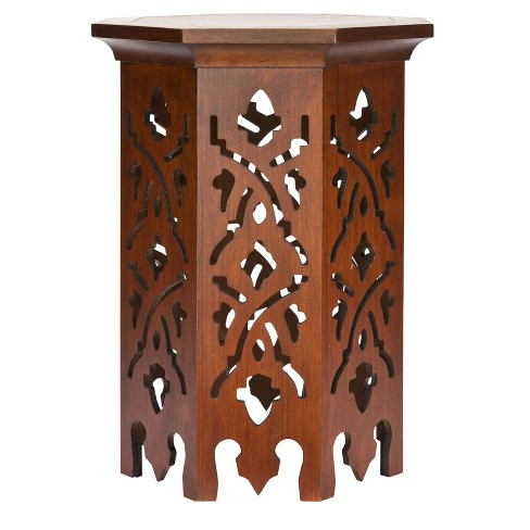 Azeo End Table Brown - Safavieh® - image 1 of 3