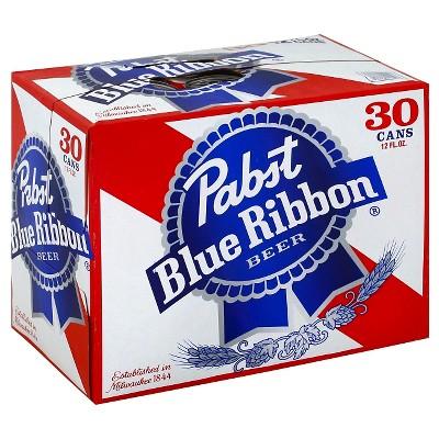 Pabst Blue Ribbon Beer - 30pk/12 fl oz Cans