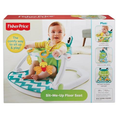 Fisher Price Sit Me Up Floor Seat Citrus Frog Target