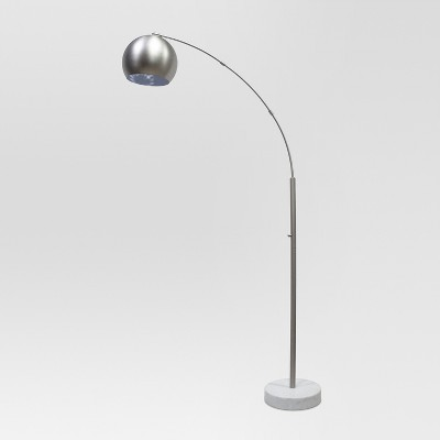 Span Single Head Metal Globe Floor Lamp Nickel Includes Energy Efficient Light Bulb - Project 62™