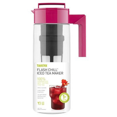 Takeya Flash Chill Iced Tea Maker-Raspberry (2Qt)
