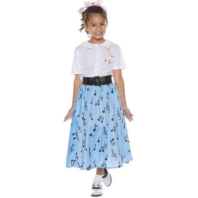 Kids' 50s Skirt Set Halloween Costume S (4-6)