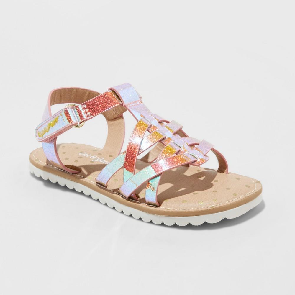 Toddler Girls' Kameke Slide Sandals - Cat & Jack Pink 10