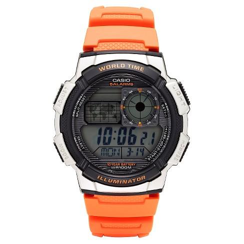 Casio Men's World Time Watch - Orange (AE1000W-4BVCF) - image 1 of 2