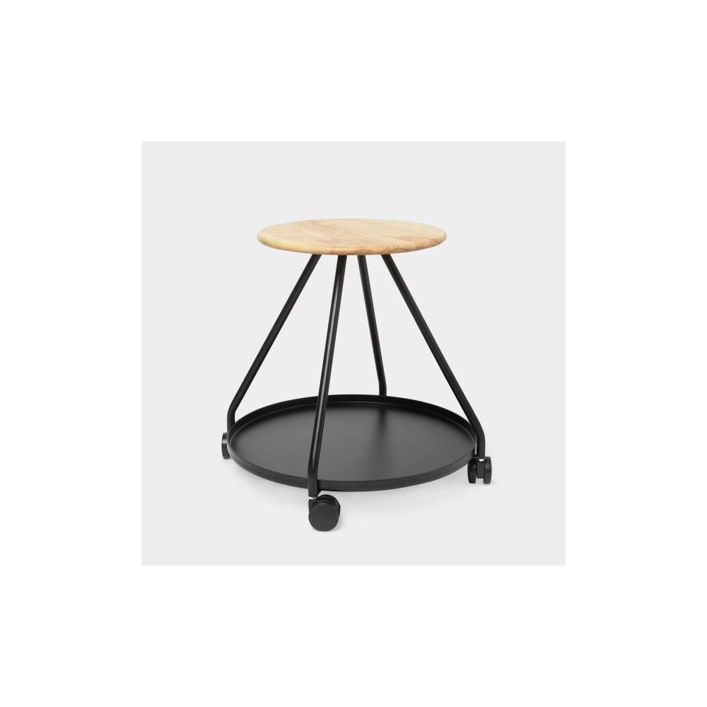 "Image of ""18"""" Hover Storage Stool Black - Umbra"""