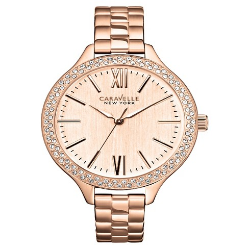 Caravelle New York by Bulova Women's Rose Gold-Tone Stainless Steel Bracelet Watch- 44L125 - image 1 of 1
