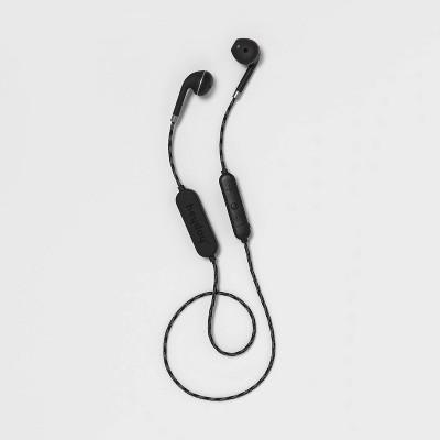 heyday™ Wireless Molded Tip Braided Earbuds - Black Tort