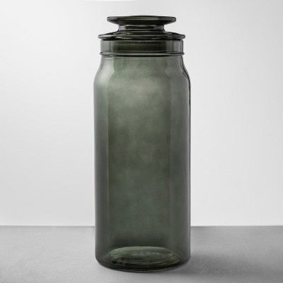 Large Gray Glass Bath Canister - Hearth & Hand™ with Magnolia