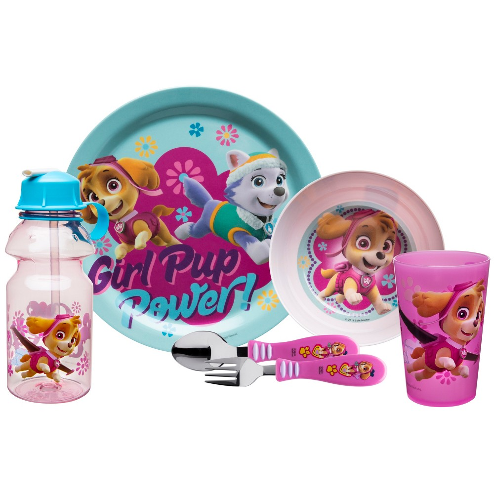Paw Patrol 6-pc Melamine Dinnerware Set - Zak Designs, Pink