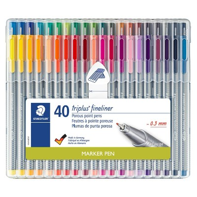 40ct Porous Point Pens Triplus Fineliner 0.3mm - Staedtler