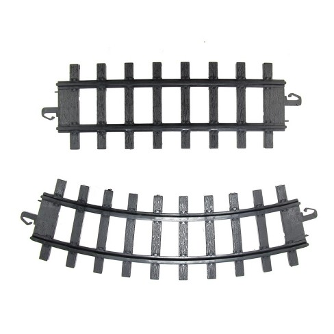 "Northlight Pack of 12 Black Replacement Train Set Track Pieces - 4"" x 10"" - image 1 of 1"