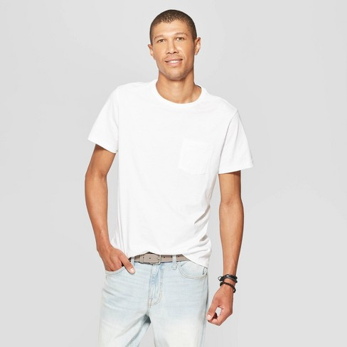 Men's Standard Fit Short Sleeve Elevated Ultra - Soft Crew Neck T-Shirt - Goodfellow & Co™ - image 1 of 3