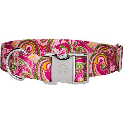 Country Brook Petz® 1 1/2 Inch Premium Pink Paisley Dog Collar