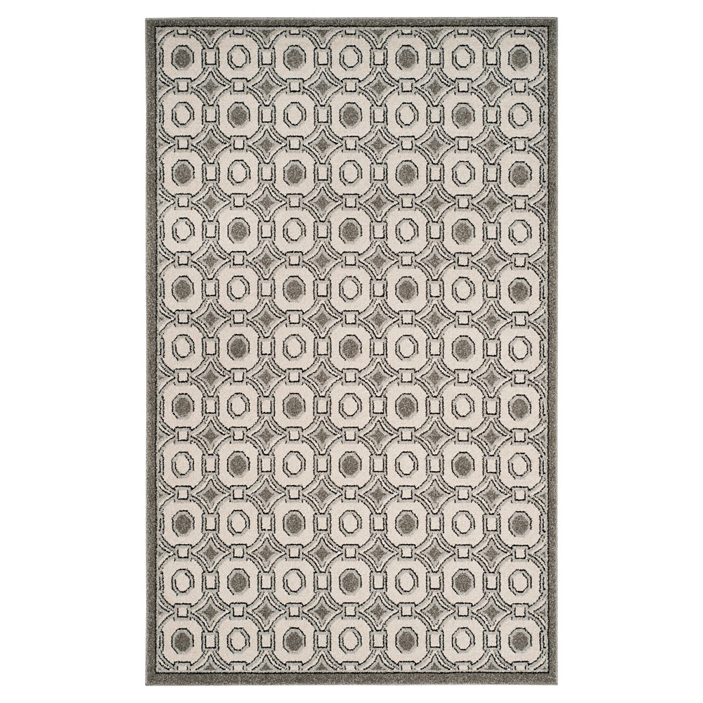 Ivory/Gray Abstract Loomed Area Rug - (6'x9') - Safavieh