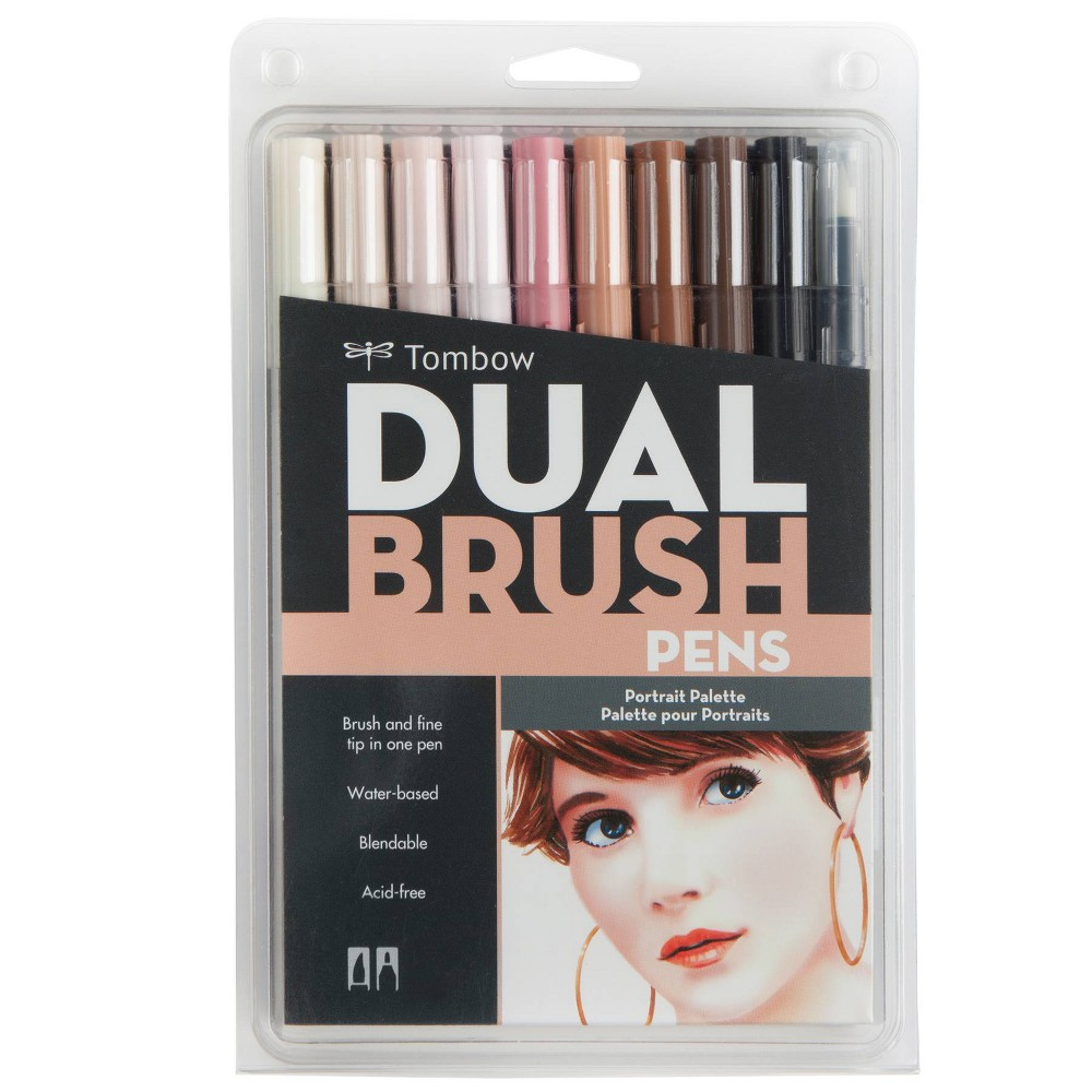 Image of 10ct Pen Set Dual Brush Potrait - Tombow