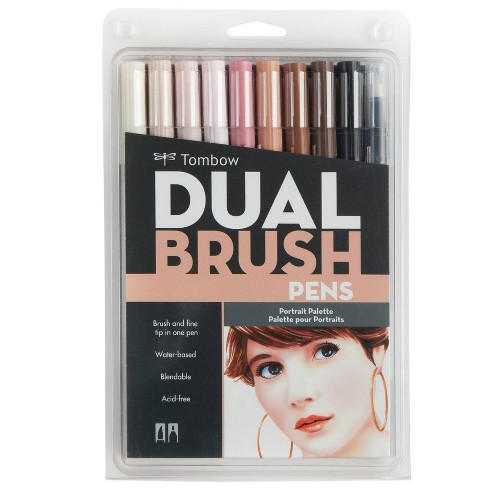Tombow 10ct Dual Brush Pen Art Markers - Portrait - image 1 of 4