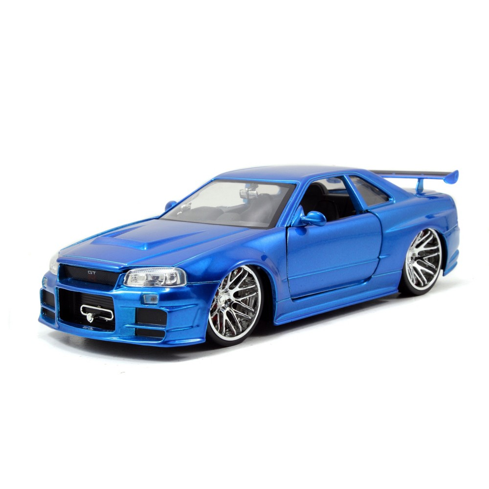 The Fast and the Furious Diecast 2002 Nissan Skyline GT-R R34 - 1:24 Scale, Blue
