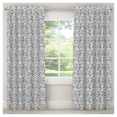Watercolor Chevron Blackout Curtain Panel - Skyline Furniture® - image 1 of 4