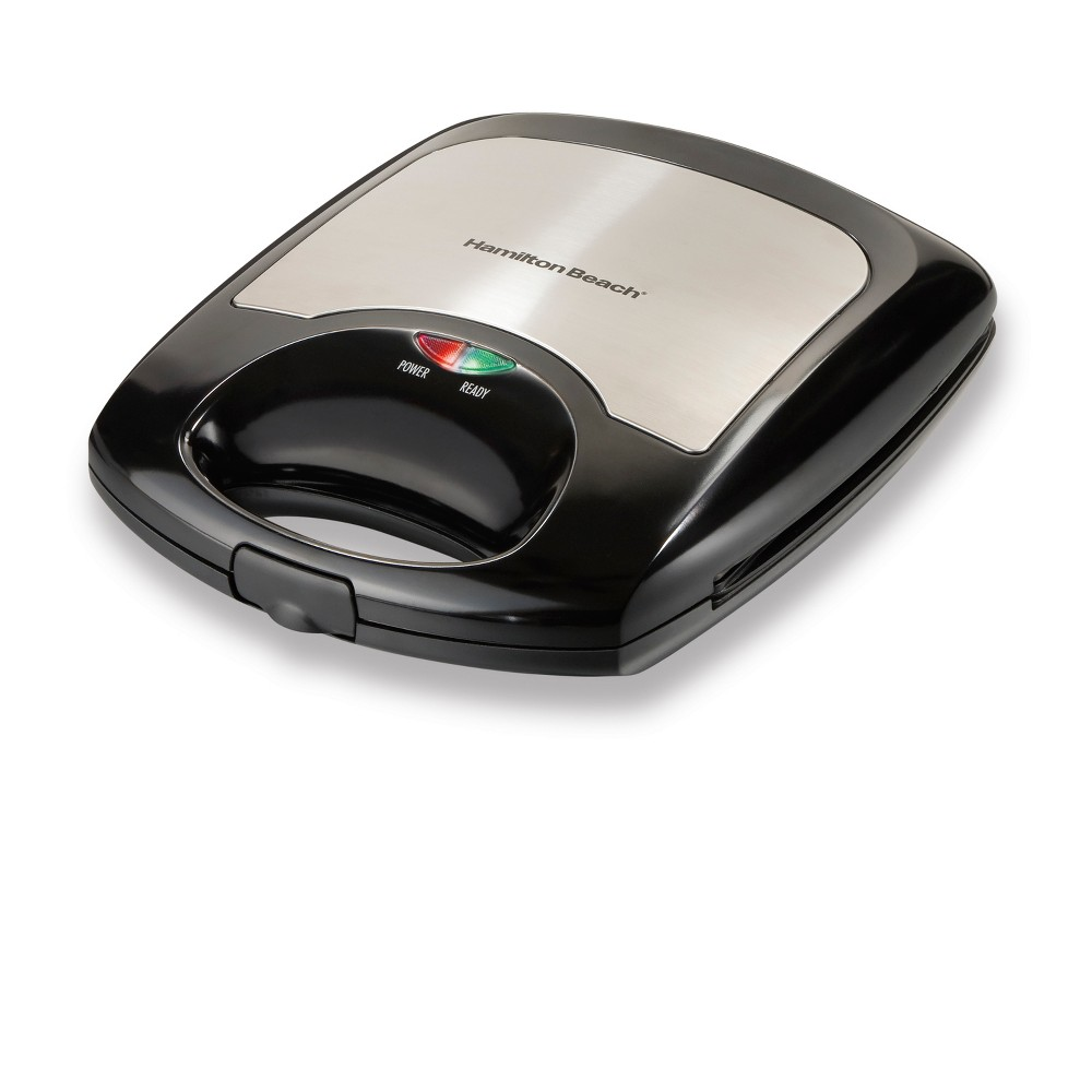 Hamilton Beach Belgian Style Waffle Maker - 26025, Black This Hamilton Beach Belgian style waffle baker will allow you to make enough for the whole family quick and easy. Making 4 waffles at the same time and the nonstick easy-clean grids will help your morning be more efficient and enjoyable. Color: Black.